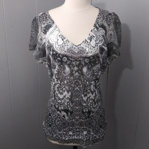 3/$20 Live and Let Live Abstract Patterned Top